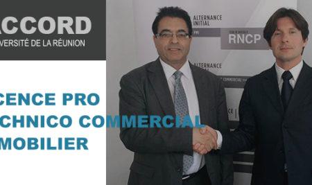 Nouveau partenariat – Licence Pro Technico Commerciale option Immobilier