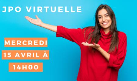 JPO Virtuelle mercredi 15 avril à 14h00 !